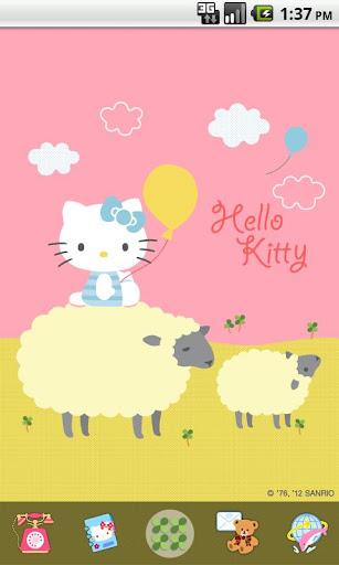 Hello Kitty Love Sheep Theme