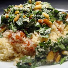 Baked Couscous With Tomato and Pesto
