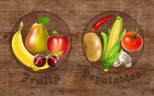 Fruits and Vegetables for kids - screenshot