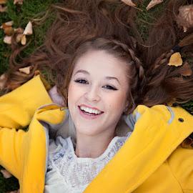 by Melissa Papaj - People Portraits of Women ( girl, teen, female, happy, woman, yellow, senior )