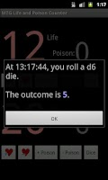 Screenshot of MTG Life and Poison Counter