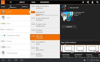 Screenshot of Orange TV Go