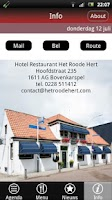 Screenshot of Hotel Rest. Het Roode Hert