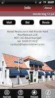 Screenshot of Hotel Rest. Het Roode Hert