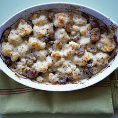 Cauliflower and Chestnut Gratin