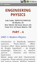 Screenshot of VTU Syllabus
