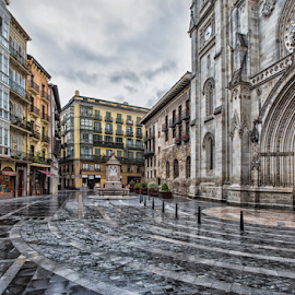 La plaza Santiago by Eduardo Latorre - City,  Street & Park  Historic Districts ( iglesia, bilbao, calle, plaza, catedral )