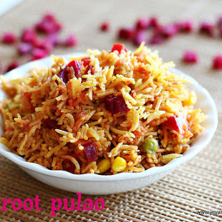 BEETROOT PULAO RECIPE | EASY LUNCH BOX RECIPES