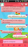Screenshot of GO SMS Rainbow Theme Free