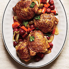 Roasted Moroccan-Spiced Grapes and Chicken