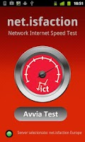 Screenshot of net.isfaction Net Speed Test