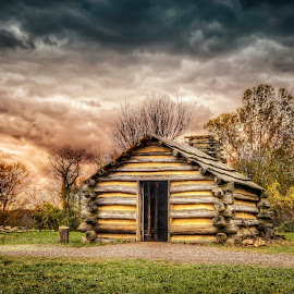 Log Cabin by Mark Ward - Buildings & Architecture Public & Historical ( valley forge )