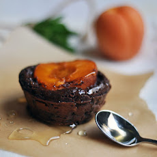 Chocolate-Apricot Clafoutis Cakes with Honey Drizzle