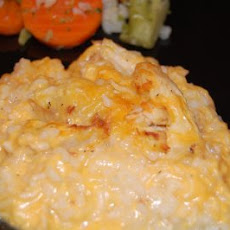 Chicken and Cheesy Rice Casserole