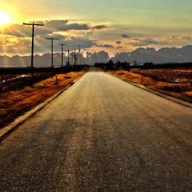 That long, lonesome road by John Smock - Novices Only Landscapes (  )