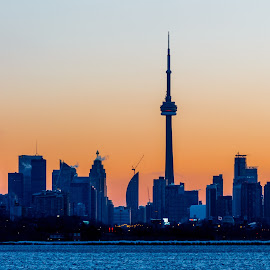 Toronto sunrise by Vanko Dimitrov - City,  Street & Park  Skylines ( downtown, colorful, mood factory, vibrant, happiness, January, moods, emotions, inspiration )