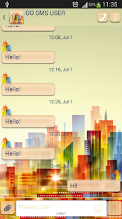 GO SMS Skyscraper - screenshot