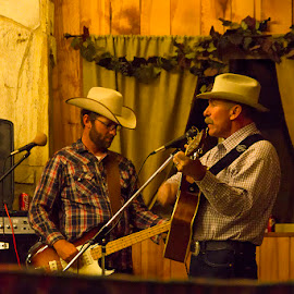 Men on strings by Amit Aggarwal - People Musicians & Entertainers ( musicians, antimony, utah, rockin'r ranch, us, guitar, ut, professional people, usa, entertainment, united states )