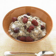 Warm Barley Cereal with Dried Cherries