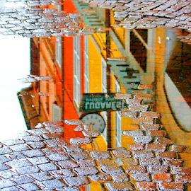 After the rain by Michael Schwartz - City,  Street & Park  Street Scenes