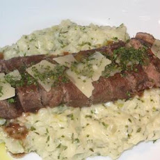 Braised Lamb Fillets With a Creamy Risotto