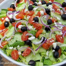 Greek Salad with Creamy Dressing