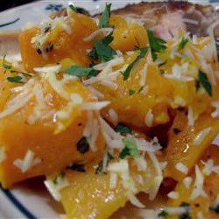 Baked Butternut Squash with Garlic