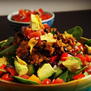 Spinach Vegetarian Taco Salad