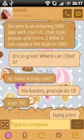 Screenshot of GO SMS Pro Candy Theme