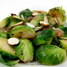 Brussels Sprouts with Basil and Garlic