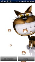 Screenshot of Funny Cat Live Wallpaper Pro