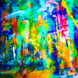 Jungle by Rory McDonald - Digital Art Abstract ( modern, abstract, wall art, colourful, art )