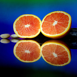 by Janette Ho - Food & Drink Fruits & Vegetables ( blue, orange. color,  )