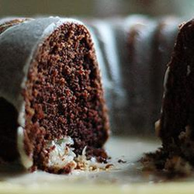 Macaroon Surprise Chocolate Cake