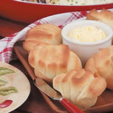 Sour Cream Fan Rolls
