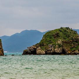 Okinawa Rocks by Allen Wesley - Landscapes Waterscapes ( rock formations, nature, waterscape, landscape, ocean view )