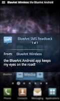 Screenshot of BlueAnt Android Application