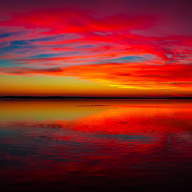 Dramatic Sunset  by Stephen Ofsthun - Landscapes Sunsets & Sunrises