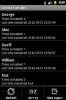 Screenshot of Contact Statistics