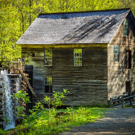 Old Gris Mill by James Kirk - Buildings & Architecture Public & Historical ( old, park, gris mill, great smoky )