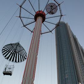 The free fall by Rajat Saini - City,  Street & Park  City Parks ( amusementpark, tokyo, tokyodome )