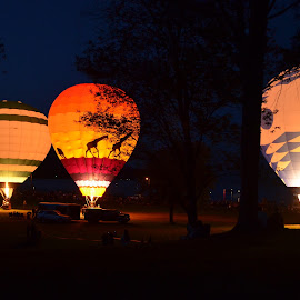 glow light by Kelli Marinucci - Transportation Other ( hot air balloon, fall, new york, newyork, september,  )