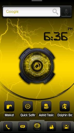 ADW Theme DigitalSoul Yellow