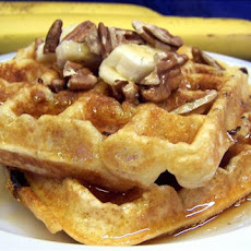 Banana Waffles With Toasted Pecans