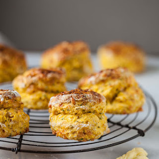 Easy Butternut Scones With Cheese And Chives