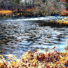 Fox River Riffle by Ray Gradel - Novices Only Landscapes ( water, nature, lighting, ripples, landscape )