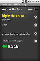 Screenshot of Spanish Talking Translator