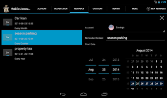 Screenshot of Mobile Account Book HD