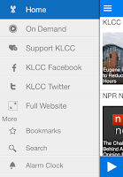 Screenshot of KLCC Public Radio App