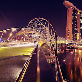 Helix Bridge by Lance Hock - Buildings & Architecture Bridges & Suspended Structures